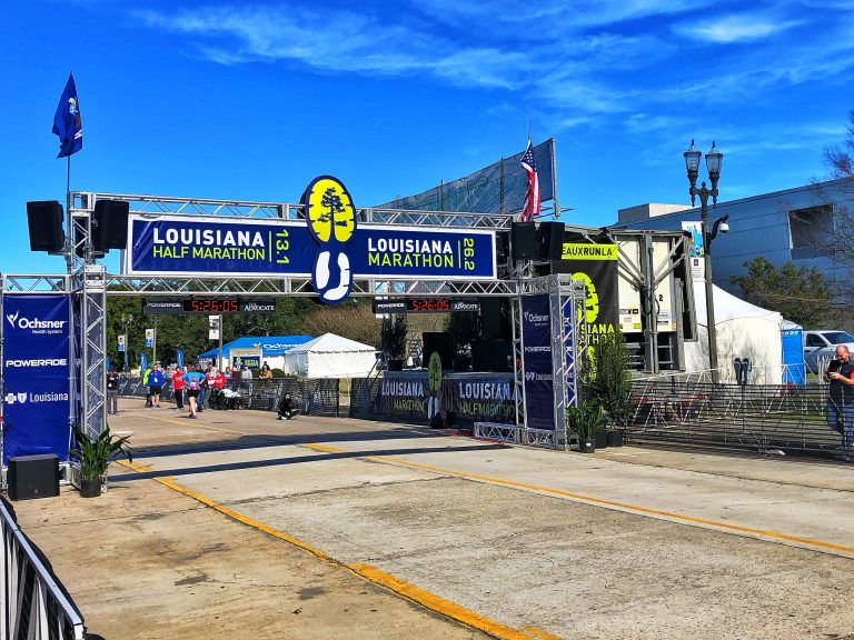 Louisiana Half Marathon Finish